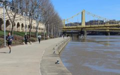 City life remains active during social distancing, with many using the nice day to get exercise with pets. March 22, 2020. Pittsburgh, PA.