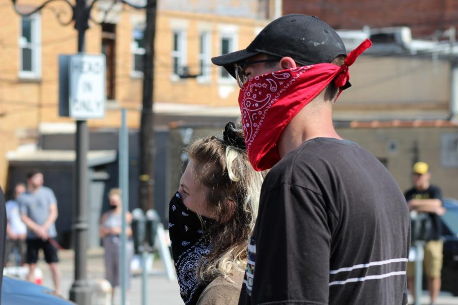 Protesters listened to the various speeches intently, despite the heat of the day and need for masks. Coraopolis, PA. June 6, 2020. RMU Sentry Media/Garret Roberts