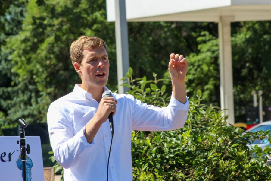 Congressman Connor Lamb spoke about seeing another turn to blue in the area, similar to the shift during his election.