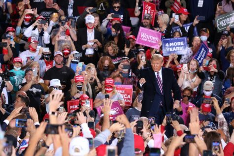 President Donald Trump holds rally at Pittsburgh International Airport
