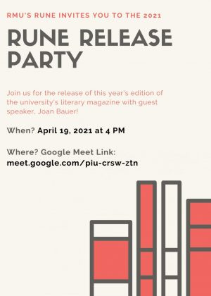 RMU Literary Magazine, Rune Release Party