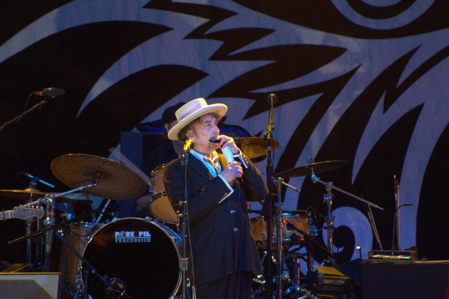 Bob Dylan performing in London in 2011.