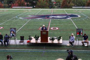 RMU Football honored Joe Walton's memory.