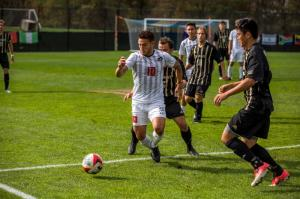 On Friday, October 13th, the RMU Men's Soccer team took on Bryant at 1pm.