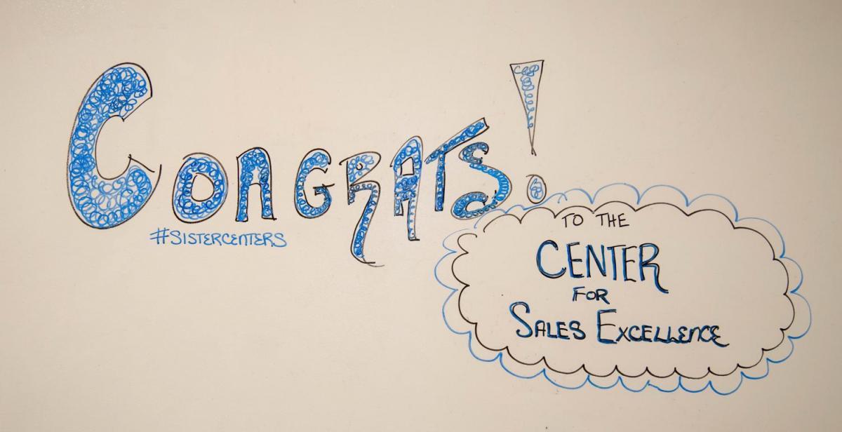 Sales Center: Congrats