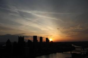 Sunrise from Mt. Washington in Pittsburgh