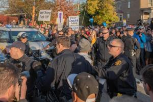 Protests of President Donald Trump in Squirrel Hill