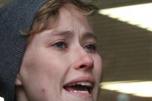 singer cries